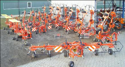 Fella Ausschnitt von Fella Maschinen im Frühbezug der Firma Fankhauser AG